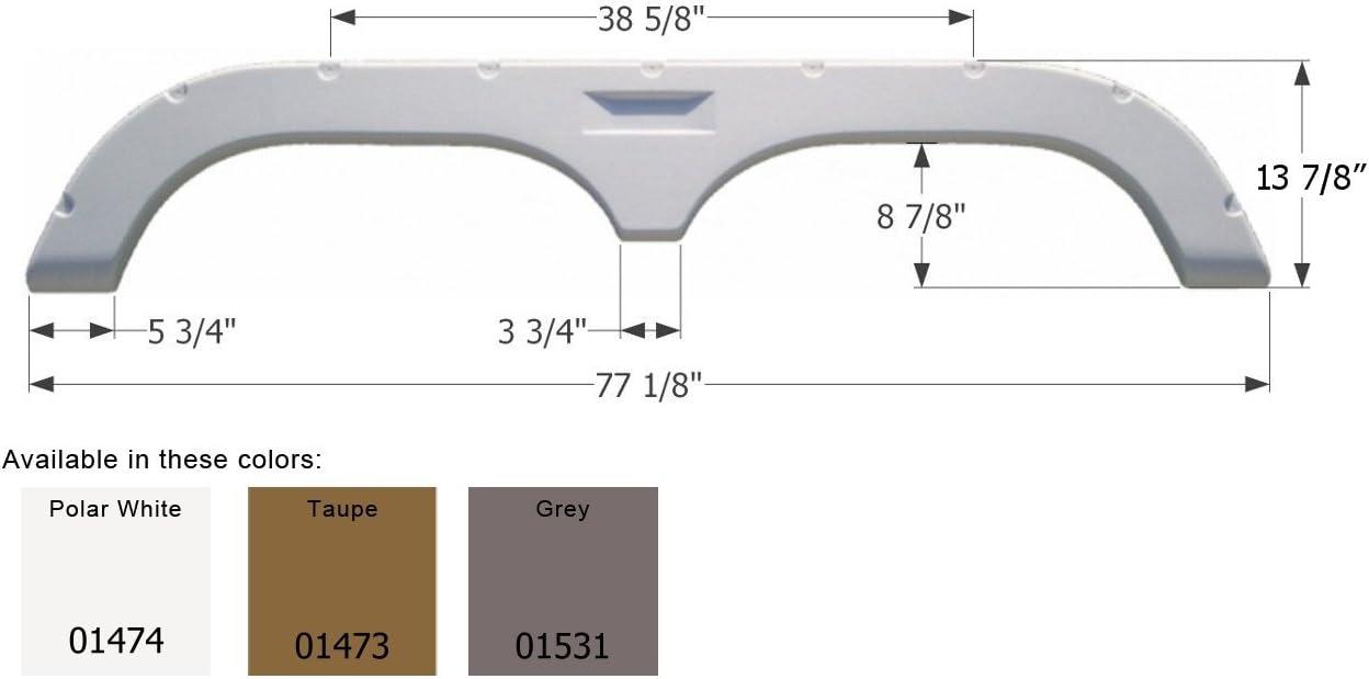 Icon Fleetwood 5th Wheel Travel Max 62% OFF Trailer Fender Skirt - Fashion FS720 Gre