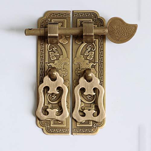 DYXYH Mangos de gabinete de Bronce Antiguo Estilo de Chino Lock de la Vendimia Muebles de Captura Muebles de Puerta Puertas del cajón Puertas de Las Puertas Pulls Fundware Hardware