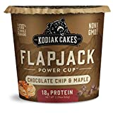 You will receive a Pack of (12) Kodiak Cakes Chocolate Chip & Maple Flapjack Cups, 2.29 Oz 12 grams of protein help keep you full for longer 100% whole grains make for a filling, nourishing breakfast or snack Non-GMO ingredients and no artificial fla...