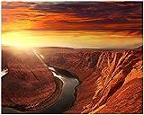 Wallario Poster - Grand Canyon bei Sonnenuntergang in