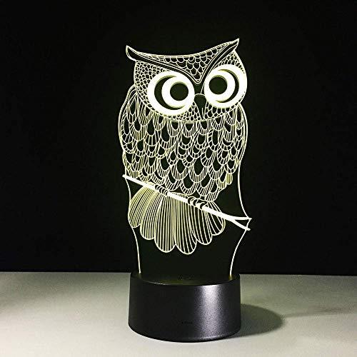 Eule USB LED 3D Nachttischlampe Kind Nachtlicht Touch Switch Kreatives Gadget Deko Kinder LED Lampe