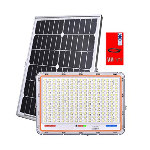 HAI Lluminacion Solar Exterio,Foco Solar Exterior Potente IP66,Luces De Seguridad Solar con Sensor De Luz para Jardines Césped Courtyard Warehouse Garage(Size:100W)