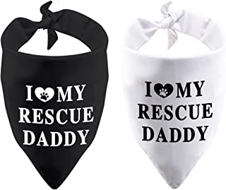 عبوة من 2 منديل هدية مكتوب عليه I Love My Rescue Mommy/Daddy Mother Day الأب