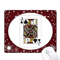 カード・スペードjパターンを演奏 オフィス用雪ゴムマウスパッド