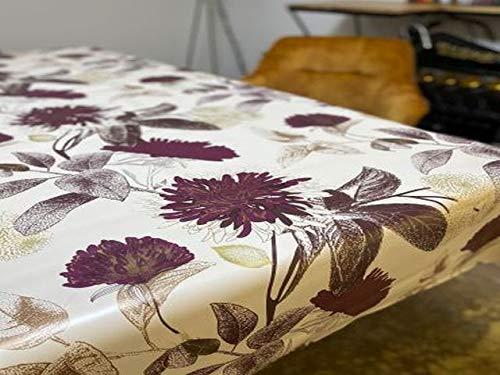 PVC Tischdecke Aster Wachstuch • Eckig • Länge & Breite wählbar • abwaschbare Tischdecke, Größe:140 x 500 cm