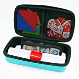 Xcivi Hard Carrying Case for Osmo Genius Kit for iPad, Storage Organizer for OSMO Base/Starter/Numbers/Words/Tangram/Coding Awbie Game (Blue)