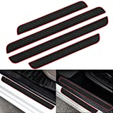 RUICA Door Sill Plate Protectors for Car - Universal Door Entry Guards Sill Scuff Cover Panel Step Protector, Welcome Pedal Protector Cover 4pcs/Set