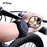 FiTeau Cycling Wrist Band Rear View Mirror - Great Safety and Convenience - Super Easy to Use - Ideal for Bikes, Road Bikes, Mountain Bikes, Balancing bikes