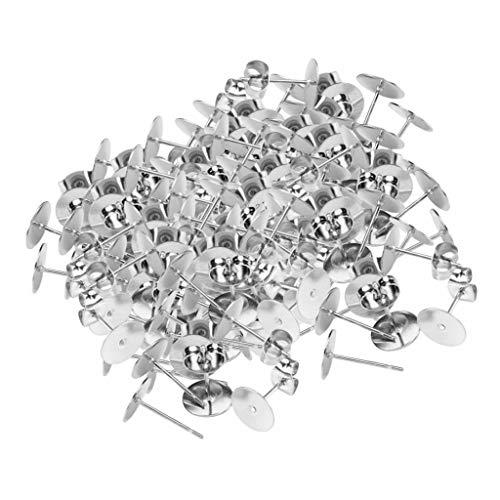 yotijar 100 Pendientes de Botón con Tachuelas para Pendientes con Respaldo para Pendientes