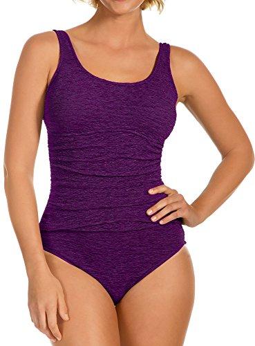 Krinkle Chlorine Resistant Women's Empire Mio Acai Purple 18W