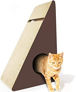 Cosmo's Own Triangle Cat Scratcher | Corrugated Cardboard with Rattling Ball Included | Triangle Shape