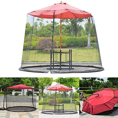 Outdoor Mosquito Net Tent Mosquito net for parasol, Outdoor Garden Mosquito Cover Garden Umbrella Sun Parasol Table Mosquito Net Cover Screen Netting Cover Mesh Mosquito Net Enclosure Fits Umbrellas A