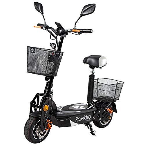 Rolektro E-Joy 20 Faltbarer Elektroroller - 20 km/h E-Roller mit Sitz 500W E-Scooter für Erwachsene EU-Zulassung