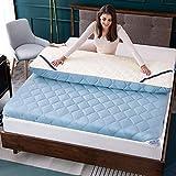 zyl Tapete de colchón de Tatami Suave Almohadilla de Dormir portátil y Transpirable Cubierta de colchón Enrollable de futón Grueso para Acampar en el Dormitorio (Color: A Tamaño: 90x190cm (35x75