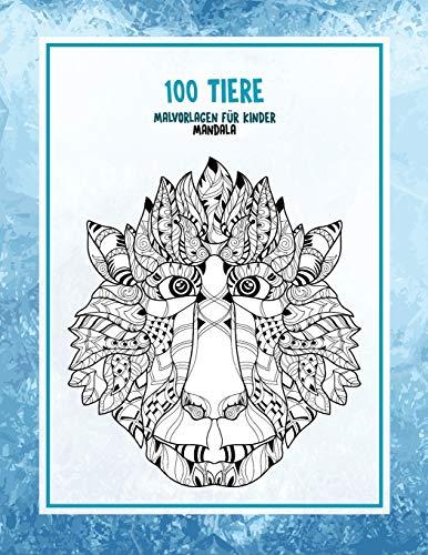 Malvorlagen für Kinder - Mandala - 100 Tiere