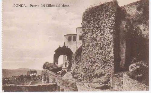 Antigua Postal - Old Postcard : RONDA - Puerta del Sillón del Moro