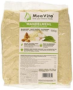Meavita Harina De Almendras Meavita, Natural, Blanqueada, 1 Paquete (1 X 500G) En Una Práctica Bolsa 515 g