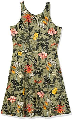 Garcia Kids meisjes O02489_2673_164 (164/170) jurk, meerkleurig (Green Flower 1681), fabrieksmaat