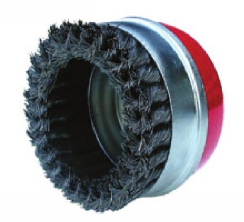Outifrance - Brosse métallique rotative Ø 100 mm à fils ondulés