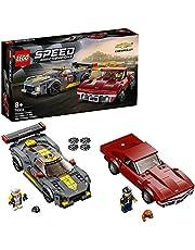 LEGO 76903 Hastighetsmästare Chevrolet Corvette C8.R Racerbil och 1968 CC Racerbilar leksaker för 8 år, 2 sportmodeller byggset