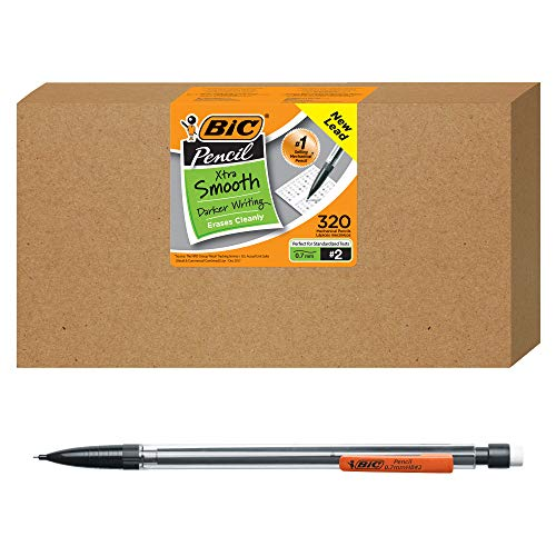 BIC Xtra-Smooth Mechanical Pencil, Clear Barrel, Medium Point (0.7mm), 320-Count