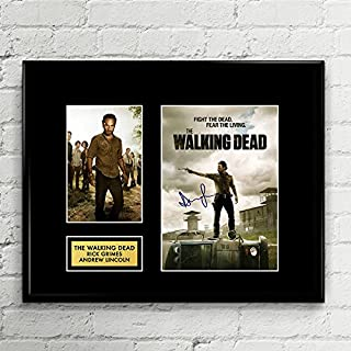 Andrew Lincoln Rick Grimes Walking Dead Signed Autographed Photo Mat Custom Framed 11 x 14 Replica Reprint Rp