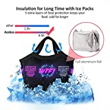 WTF Neon Text Design Template Comic Speech Men Women Waterproof Lunch Bag 8.5x8.5x4.6in Internal Foil Insulated Lunch Tote Cooler Cooling Bags Boxes for Work Office Picnic Beach,Lunch Bag