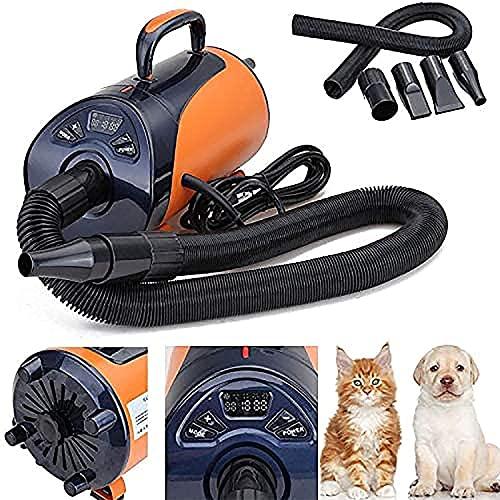 Tiyano 2800 W Dog Cat Asciugacapelli Asciugacapelli Blaster Pet Grooming Asciugacapelli Asciugacapelli LED Display 8-Step velocità Blaster Asciugatore Asciugatore Asciugatore Asciuga