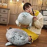 EmNarsissus Osaka Soft Cute Seal Pillow Plush Chubby Seal Doll Pillow Almohada para Dormir de bebé Acuario Peluche de Juguete Regalo