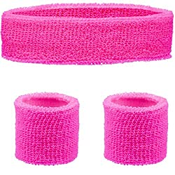 LOVE THE 80'S: Show your love of the 80's era when everything was bigger, brighter and louder. Pick your required colour and these headband and wristbands will certainly help you stand out from the crowd. Embrace the neon colours and add these access...