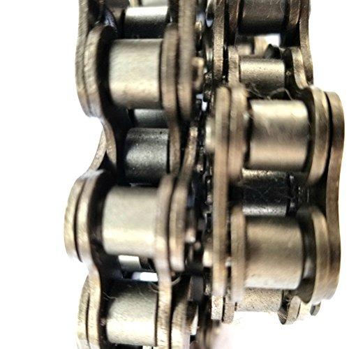 VORCOOL Fahrradkette 100 Glieder für 420 MTB Mountainbike Elektrisches Dreirad (Silber) - 6