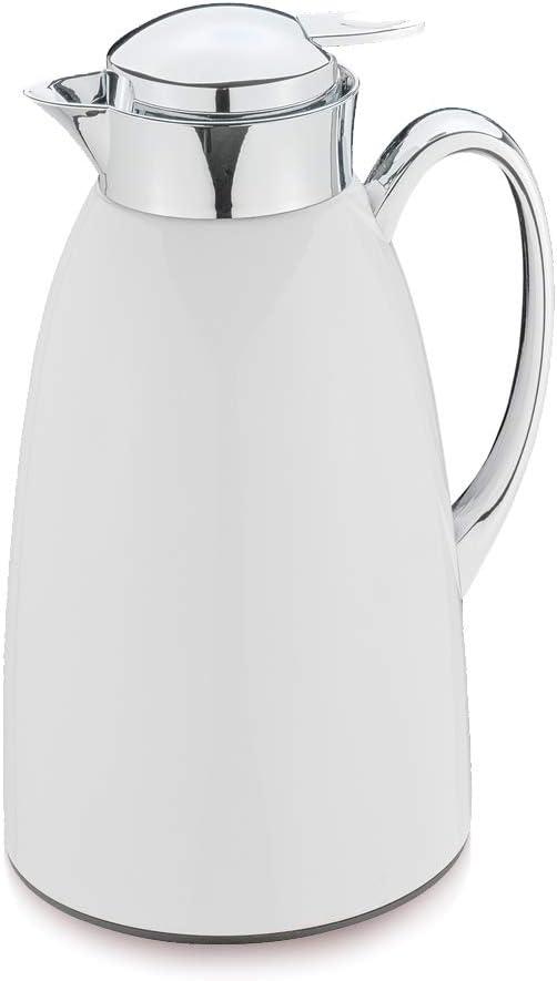 Cilio Venezia Insulated おしゃれ Flask 1 ●手数料無料!! Stainless Steel Litre White