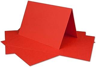 50 DIN A6 Faltkarten Rot - Karten zum selbstgestalten 14,8 x