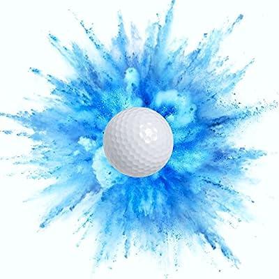 Exploding Trick Golf Balls + Gender Reveal Party Gag Gift for Golfers, Blue & Pink Exploding Golf Balls (1 Blue, 1 Pink)