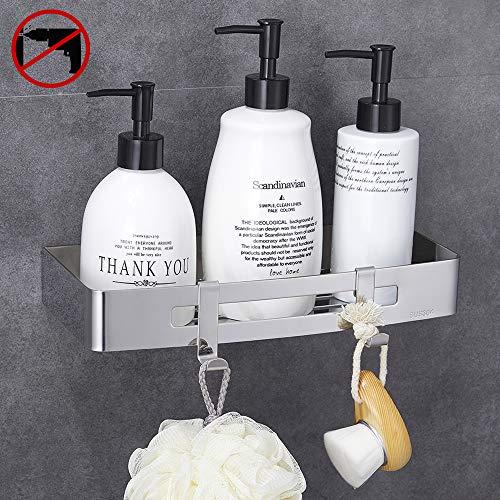 Gricol Estante de baño, Cesta para ducha, Almacenamiento, Organizador sin clavos, Autoadhesivo,...