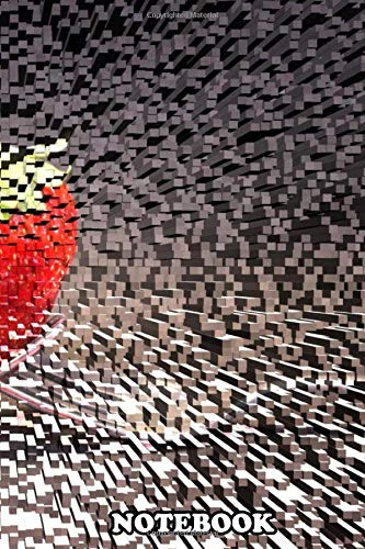 Notebook: Futuristic Strawberry Futuristic Strawberry Is A 3d Mix , Journal for Writing, College Ruled Size 6' x 9', 110 Pages