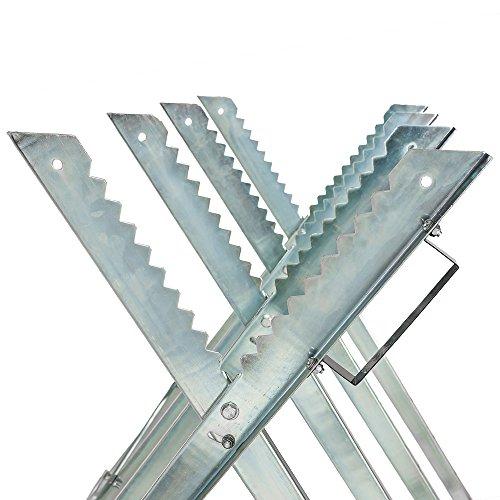 "TecTake Holzsägebock für Kettensäge – diverse Modelle – (Silber / ""Typ 401165"") - 2"