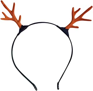 COODIO Kids Girl Christmas Style Fashion Deer Horn Design Hair Clasp Delicate Head Wear for Fashion Jewelry