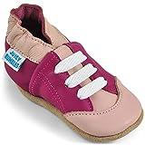 Juicy Bumbles Basket Bebe Fille - Chaussures Bébé - Chaussons Bébé Cuir Souple - Tennis Roses - 6-12 Mois