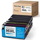 SWISS TONER Chip Update Compatibile per HP 953XL Cartucce d'inchiostro Compatibile per HP OfficeJet Pro 8710 8715 8720 8725 8730 8740 8210 8218 7720 7730 Stampante (2Nero/Ciano/Magenta/Giallo)