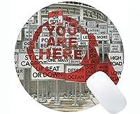パーソナライズされたラウンドマウスパッド、ソルトレイクシティのテーマパーソナライズされた長方形ゲームラウンドマウスパッド