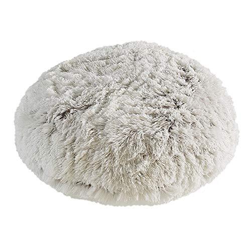 Tempo Polar Pouf - Round/White, Faux Fur Floor Pouf with Poly Fill