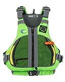 MTI Adventurewear Trident PFD Life Jacket, Small/Medium, Bright Green/Gray