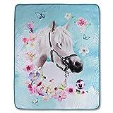 Good Morning! Wohndecke Kuscheldecke 4924 My Beauty Pferd Bunt 130 cm x 160 cm