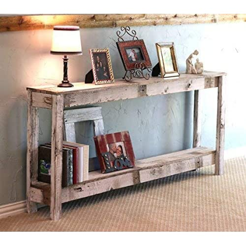 Amazoncom White Farmhouse 60 Inch Sofa Table Handmade