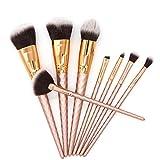 Cepillo de maquillaje ILOVEU 8 piezas Varilla de hilo de oro rosa Pincel de maquillaje Pincel de maquillaje Pincel de maquillaje Herramienta de belleza multifunción-1set