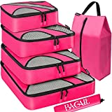 BAGAIL 6 Set Packing Cubes,Travel Luggage Packing Organizers with...