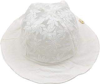 FENICAL Dentelle Casual Sunhat Fleur Chapeaux de Pêcheur Printemps Eté Chapeaux Chapeau Seau pour Bébé Enfant (Blanc)