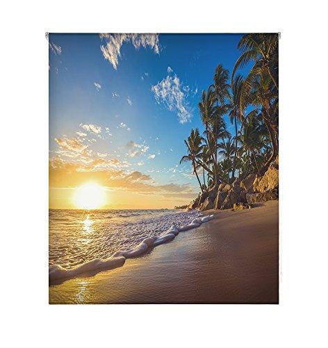 HappyStor HSCP7231 Estor Enrollable Estampado Digital Paisajes Tejido Traslúcido Medida Total Estor:180x250 (**Solo Ancho Tela:176-177cm.**)
