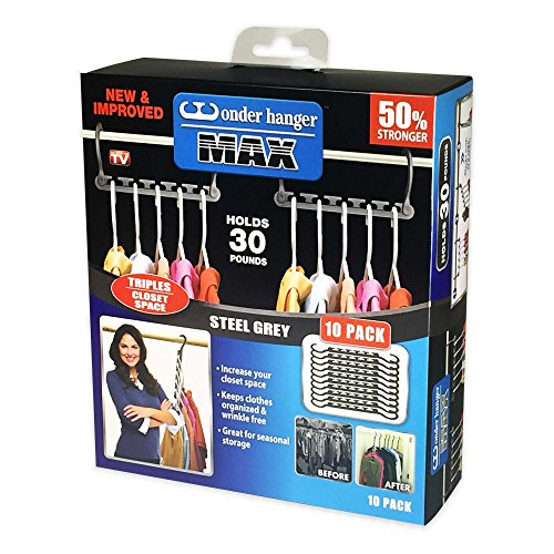 Wonder Hanger MA in Grey (Set of 10), Each Wonder Hanger is Durably Designed to Accommodate Up to 30 lb. (1)